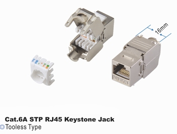 TE2-301-CAT6A-STP Keystone modul Cat6a STP