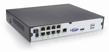 NVR008P Snimač za video nadzor, PoE, 8-kanalni