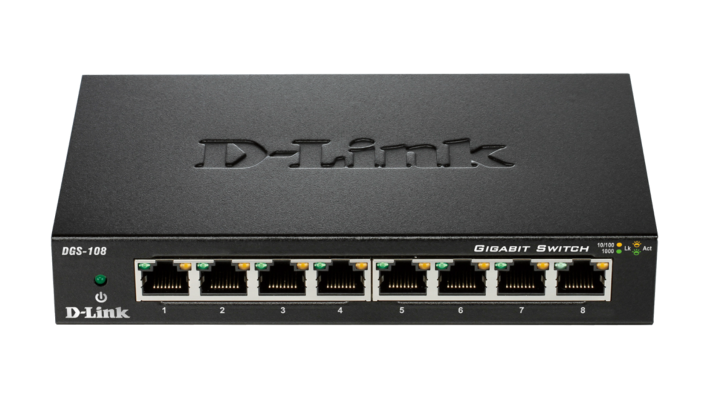 DGS-108/E D-Link switch 8x10/100/1000